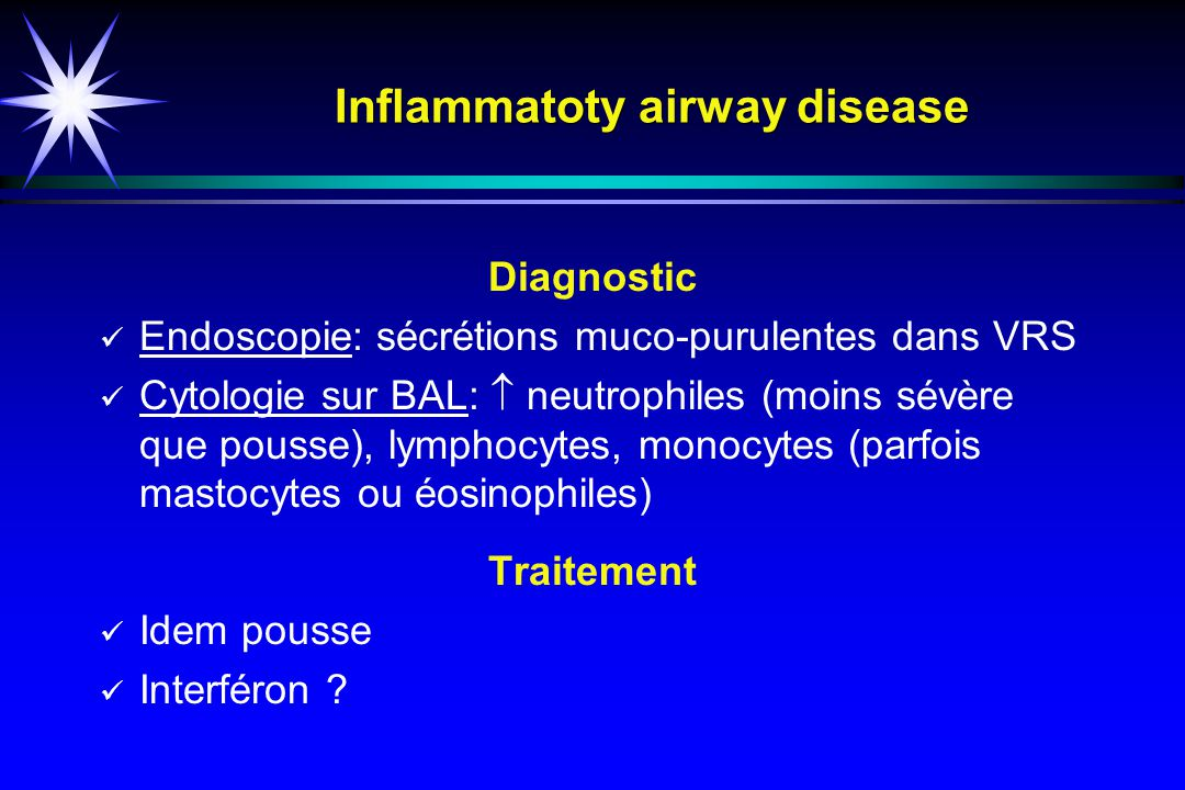 Inflammatoty airway disease
