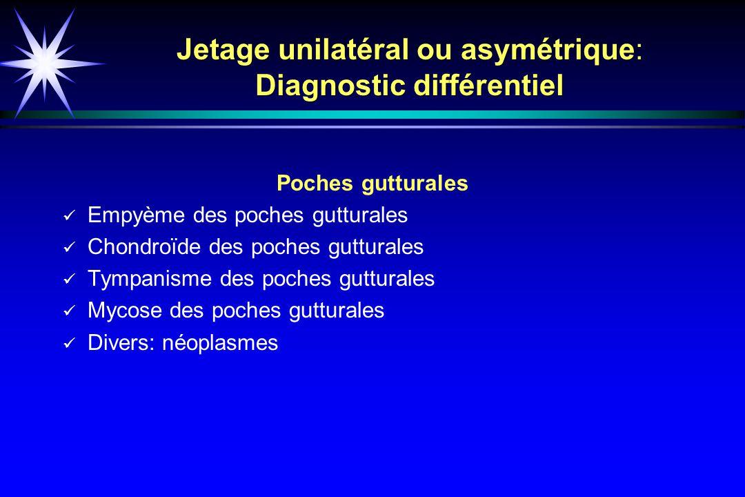 Jetage unilatéral ou asymétrique: Diagnostic différentiel