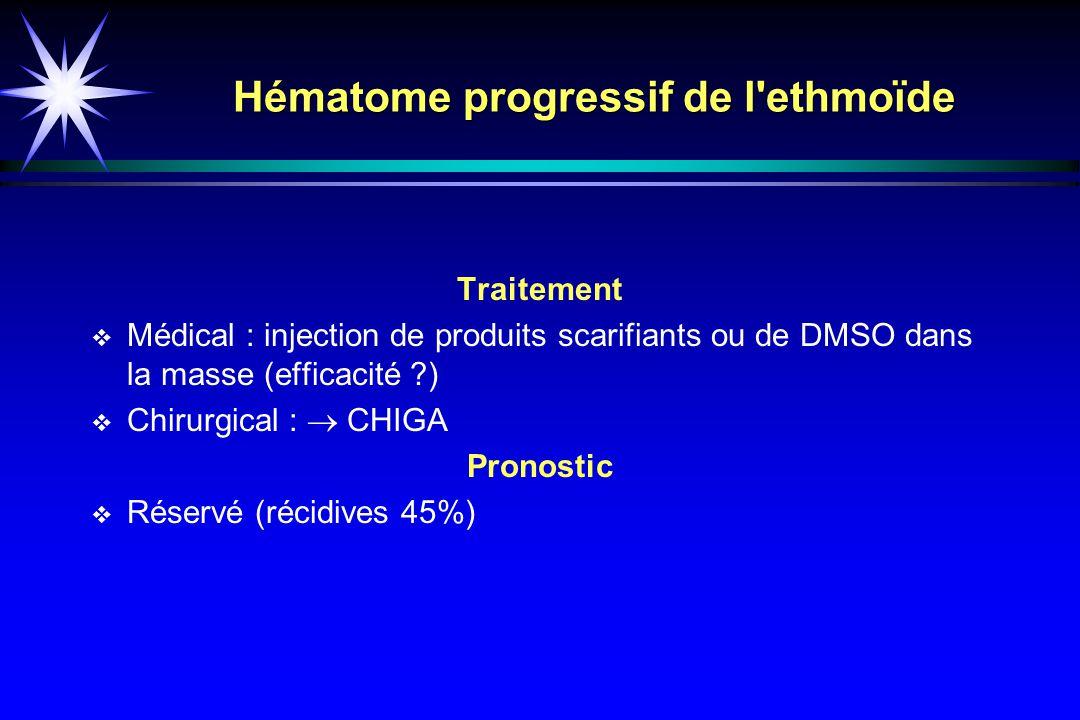 Hématome progressif de l ethmoïde