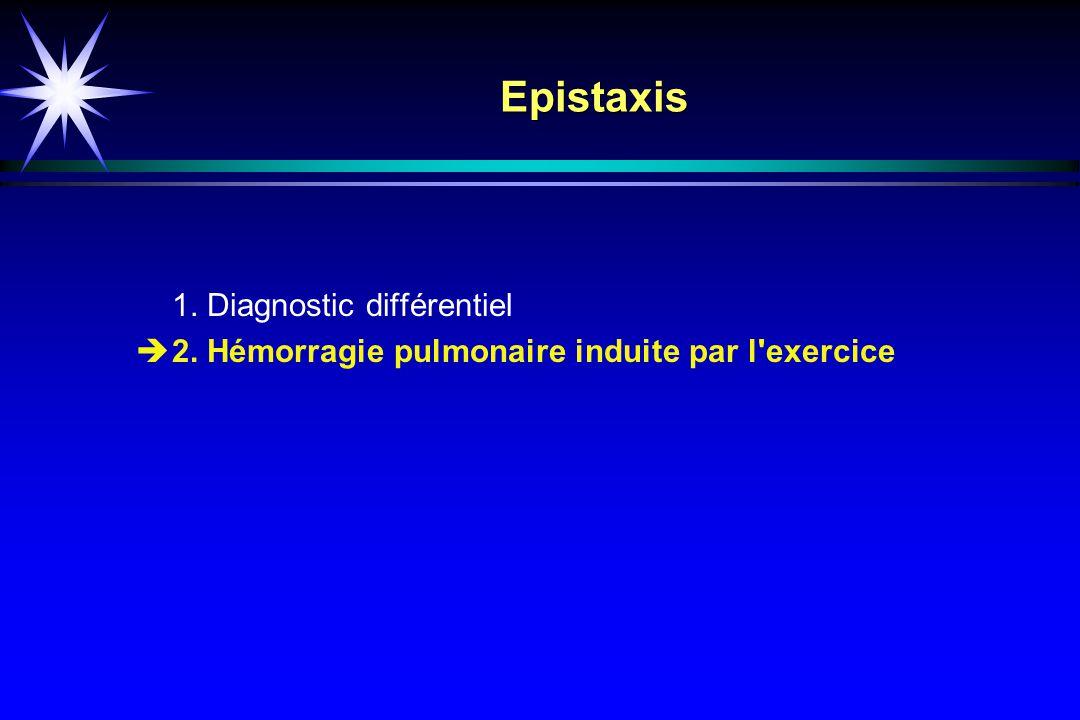 Epistaxis 1. Diagnostic différentiel