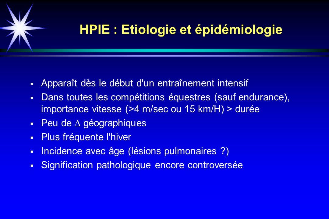 HPIE : Etiologie et épidémiologie