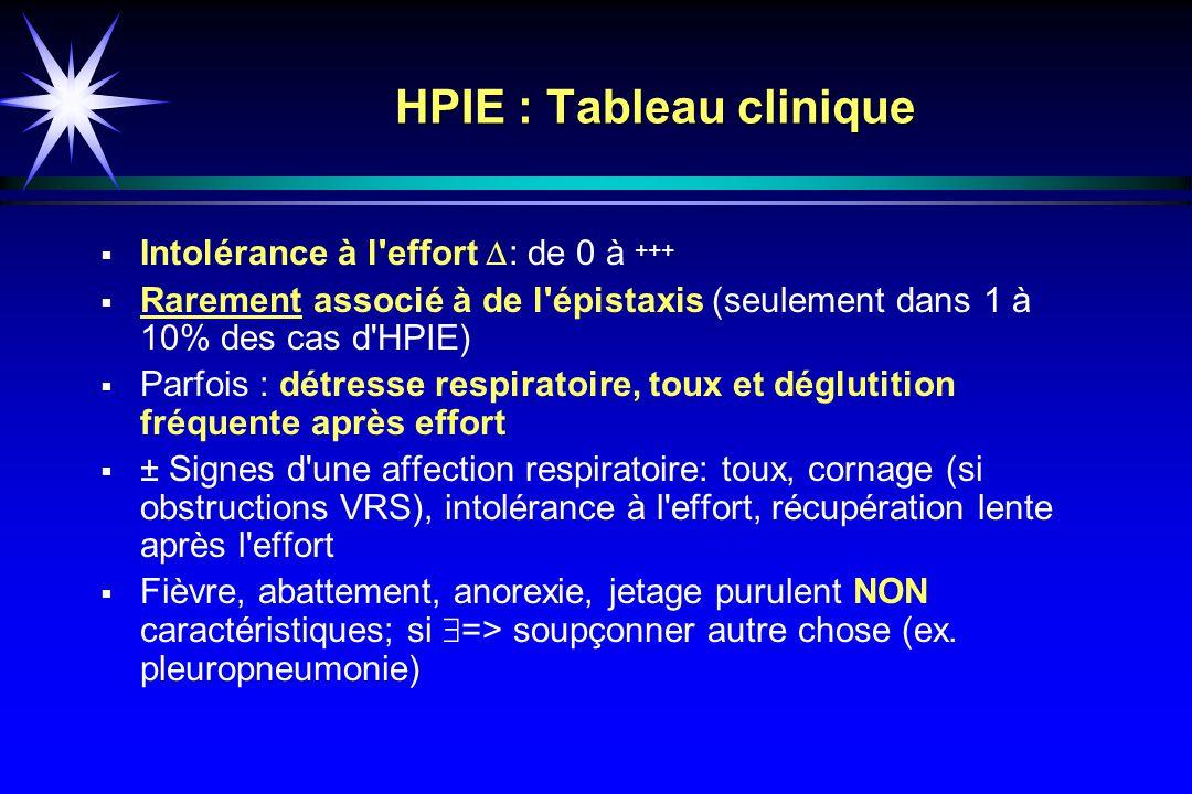 HPIE : Tableau clinique