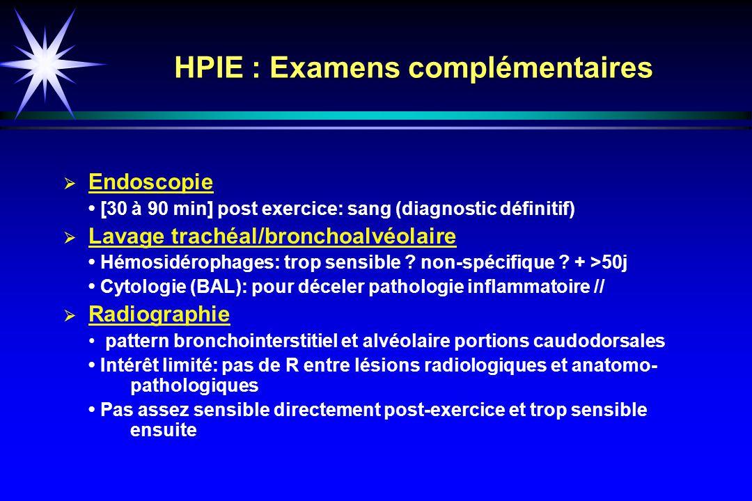 HPIE : Examens complémentaires