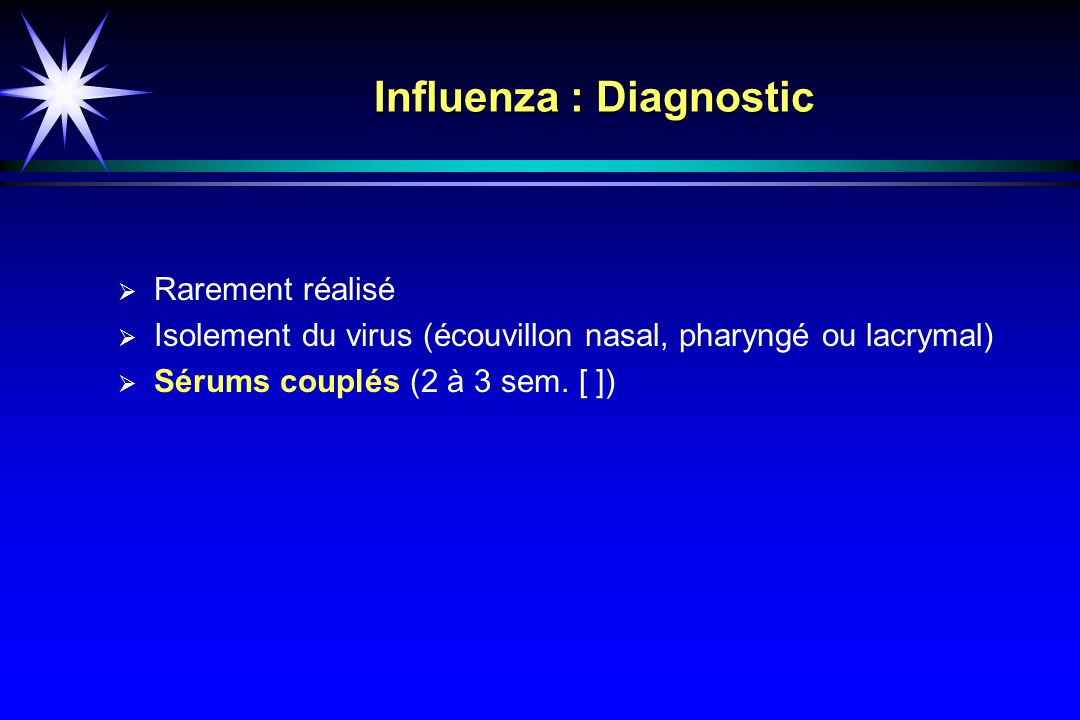Influenza : Diagnostic