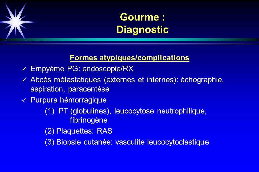 Formes atypiques/complications