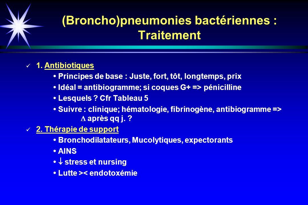 (Broncho)pneumonies bactériennes : Traitement