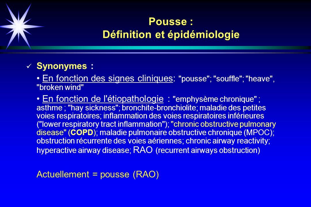 Pousse : Définition et épidémiologie