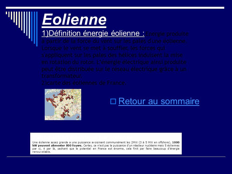 Eolienne Retour au sommaire
