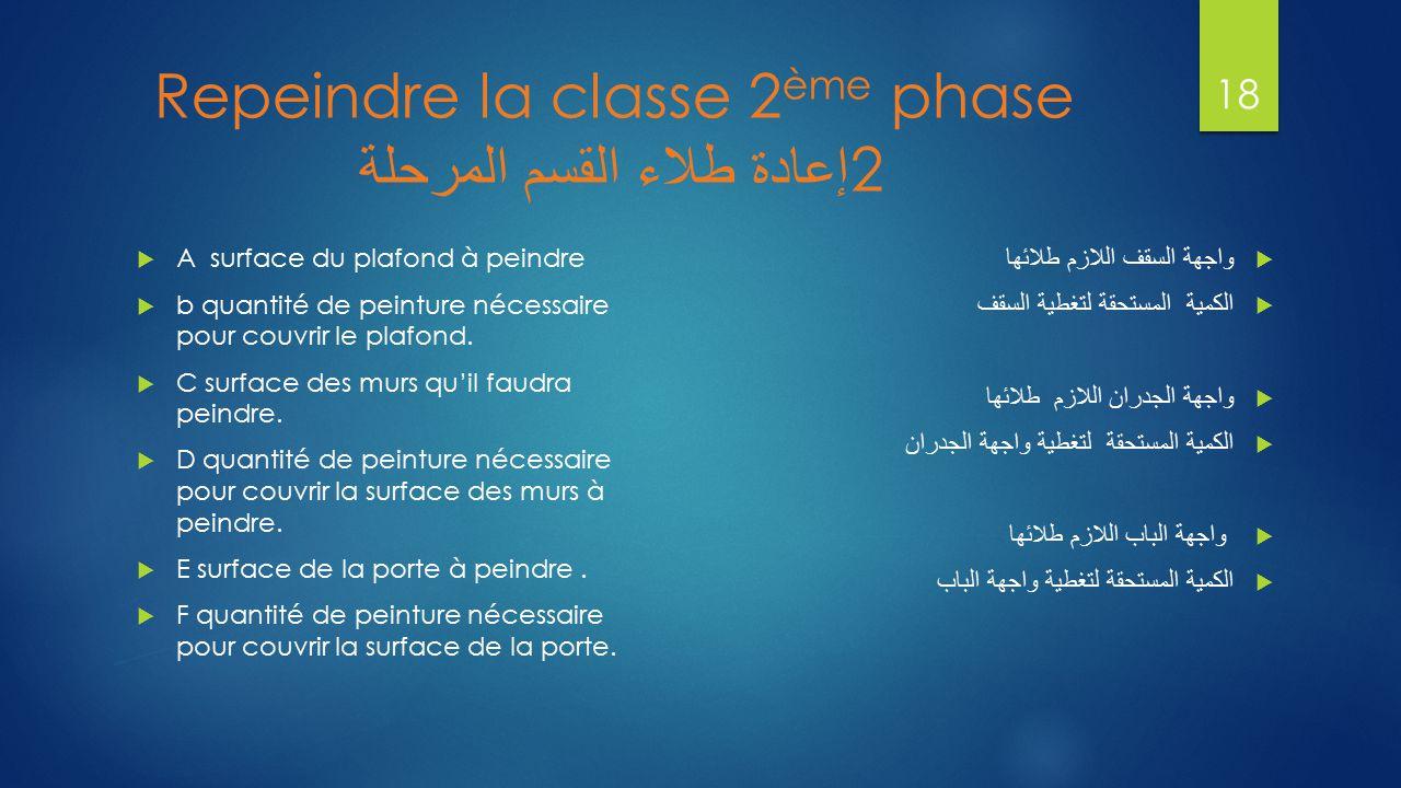 Repeindre la classe 2ème phase إعادة طلاء القسم المرحلة 2