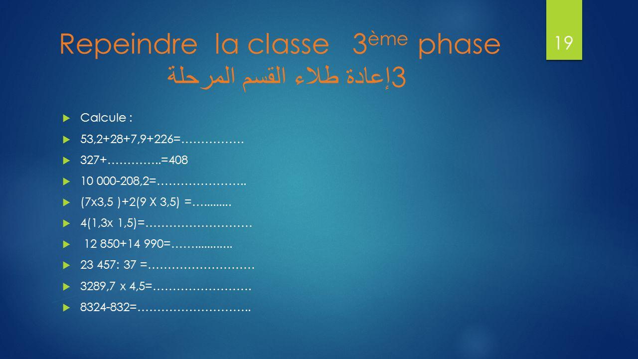 Repeindre la classe 3ème phase إعادة طلاء القسم المرحلة 3