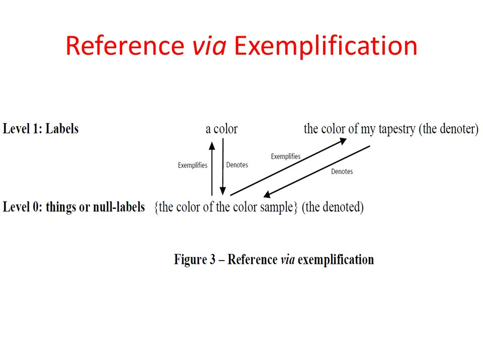 Reference via Exemplification