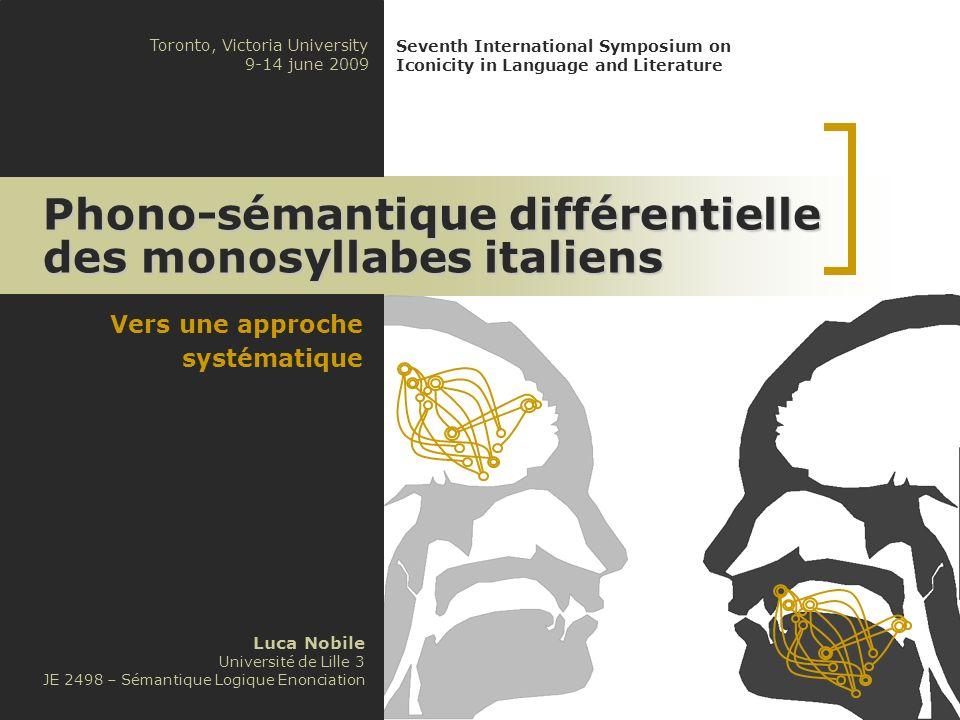 Phono-sémantique différentielle des monosyllabes italiens