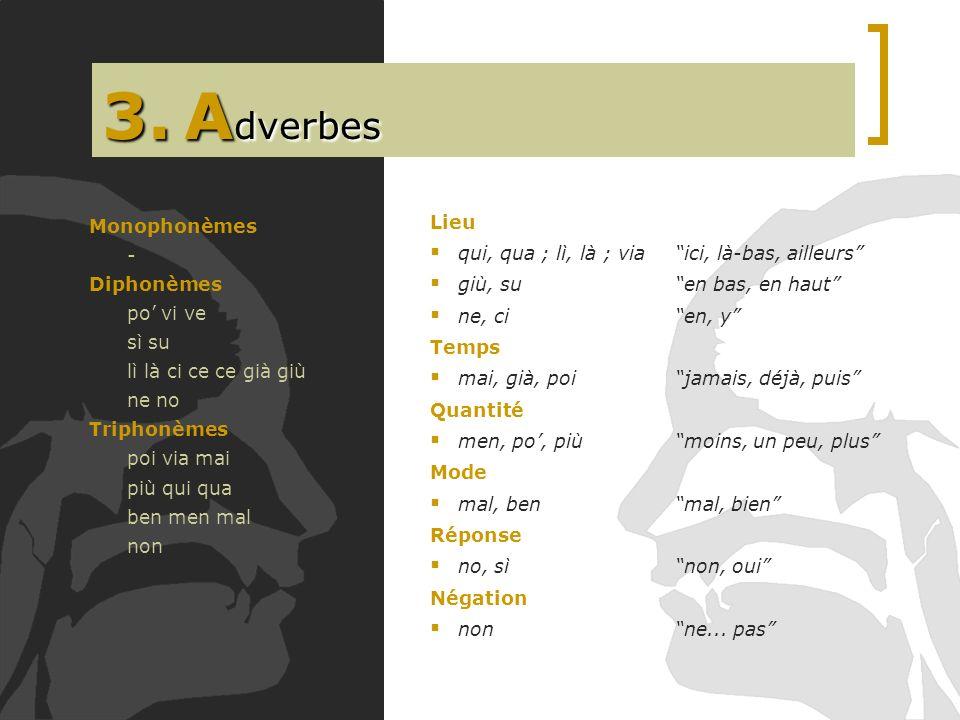 3. Adverbes Lieu Monophonèmes
