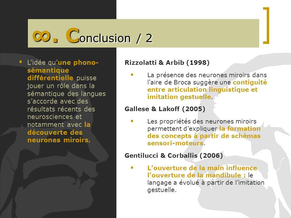 ∞. Conclusion / 2