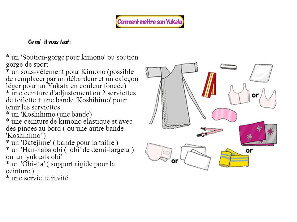 un Soutien-gorge pour kimono ou soutien gorge de sport