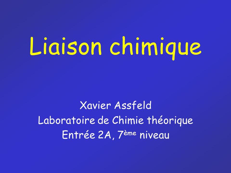 Xavier Assfeld Laboratoire de Chimie théorique Entrée 2A, 7ème niveau