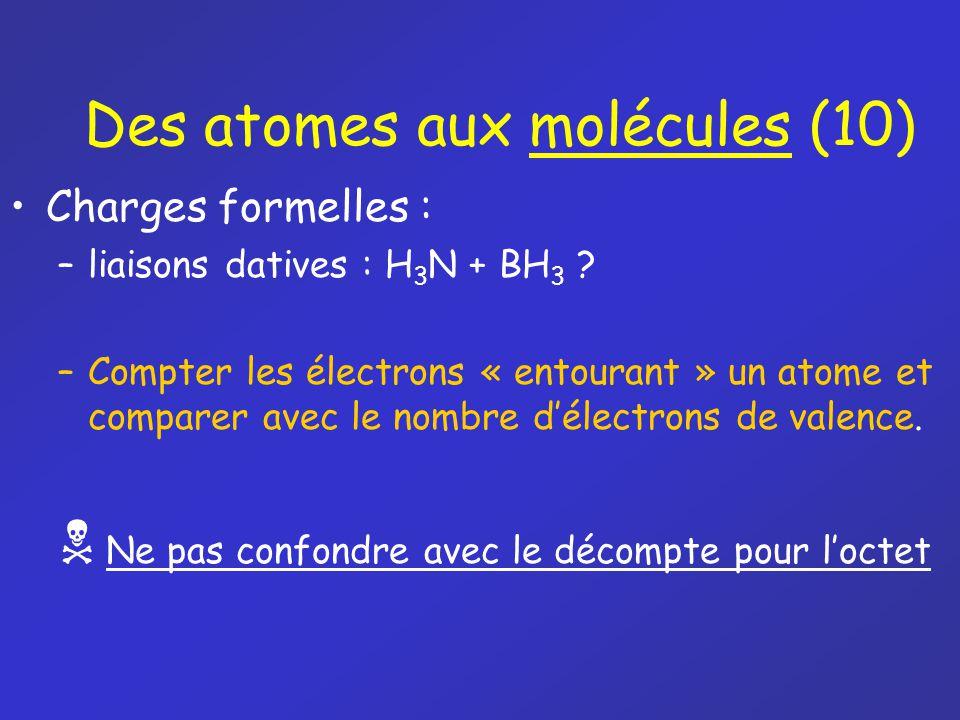 Des atomes aux molécules (10)