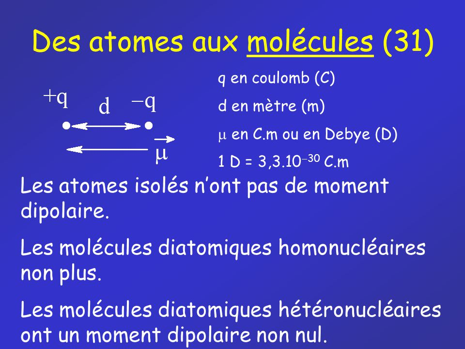 Des atomes aux molécules (31)