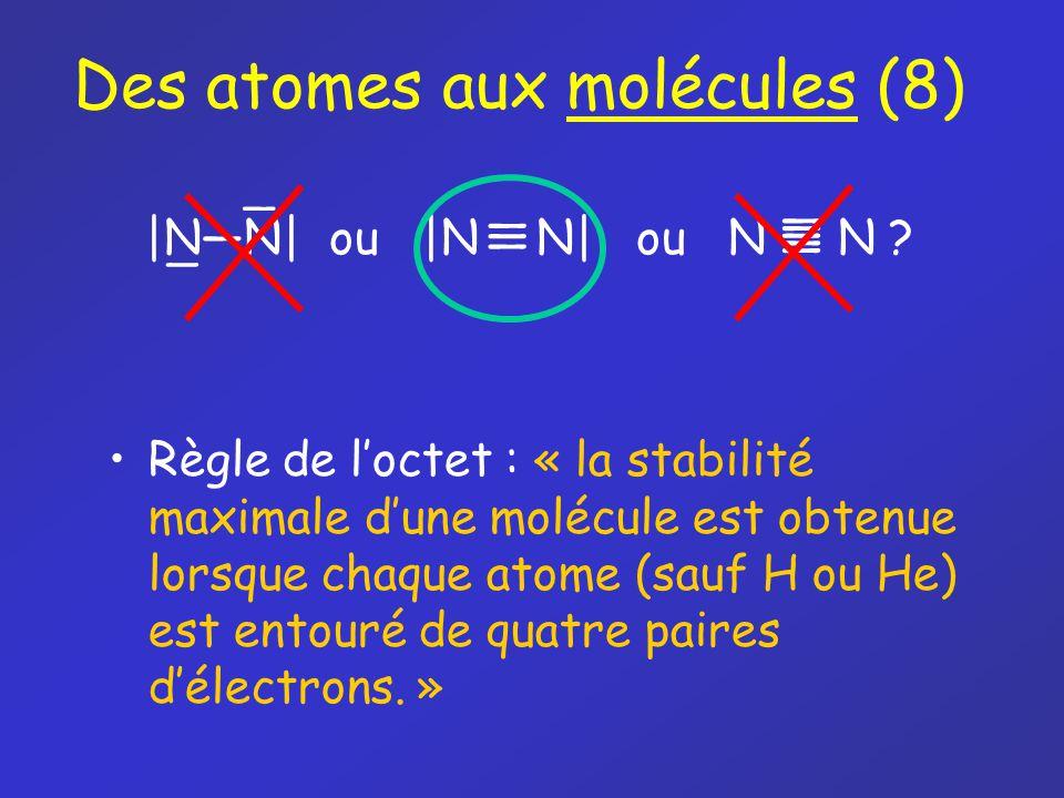 Des atomes aux molécules (8)