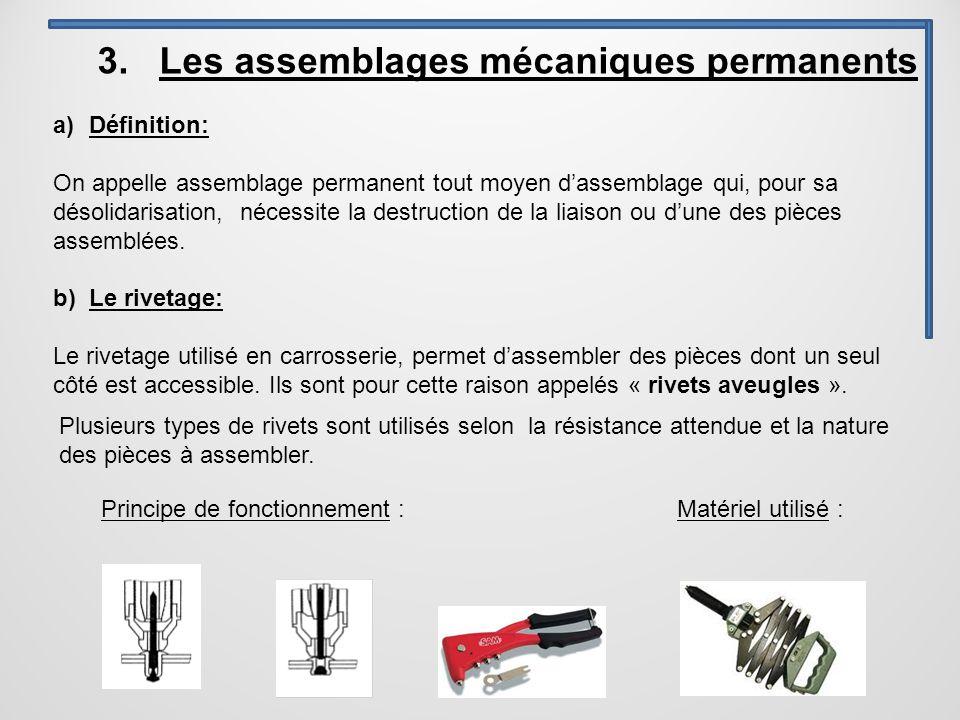 3. Les assemblages mécaniques permanents