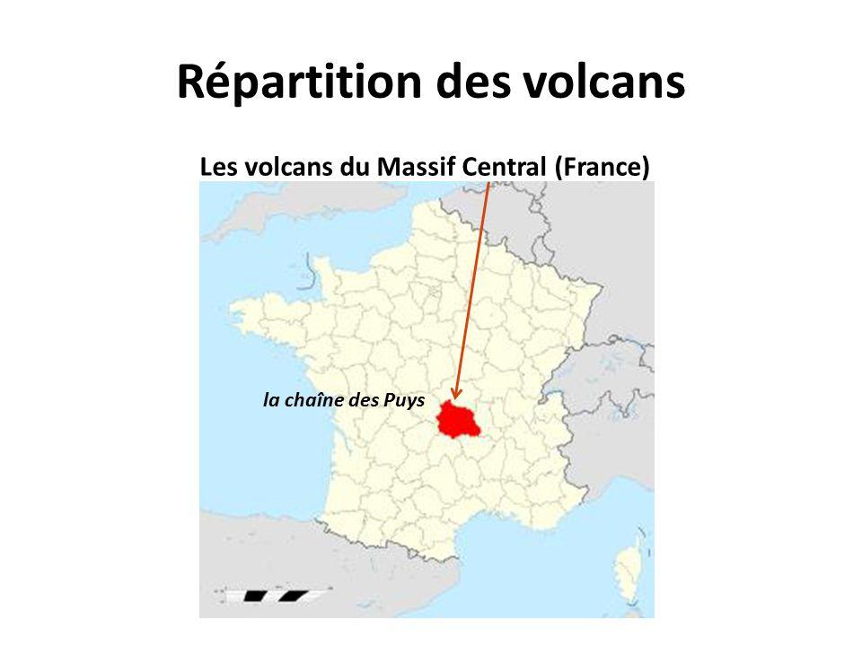 Répartition des volcans