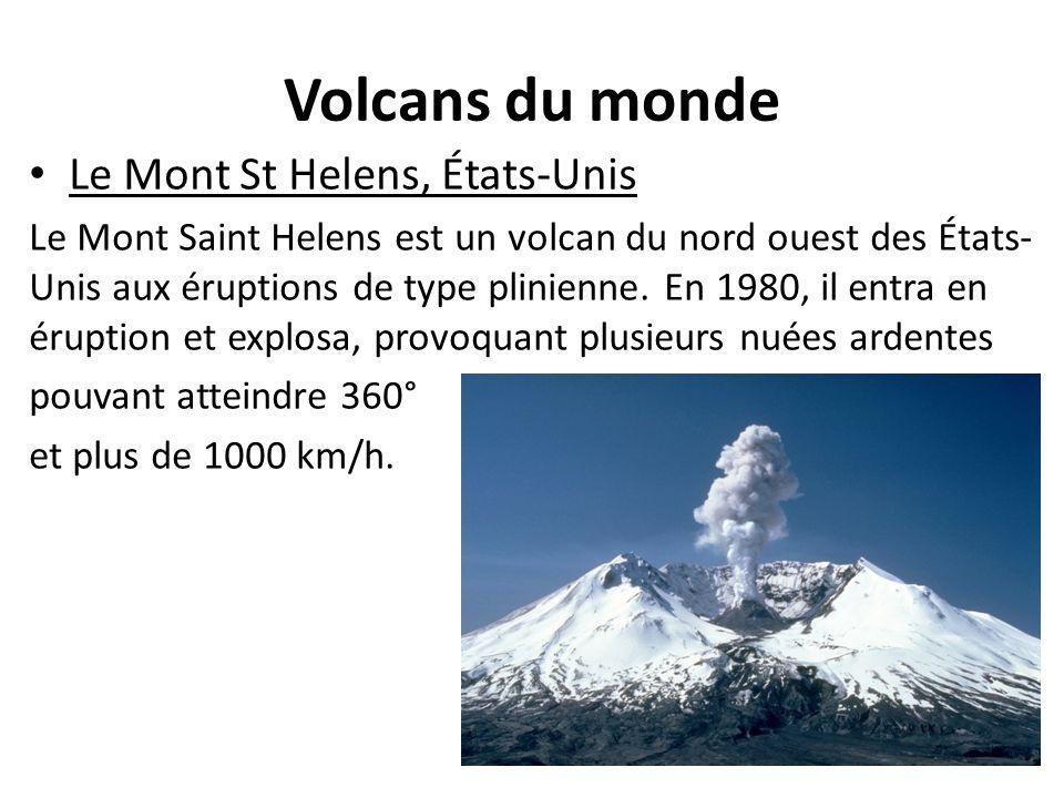 Volcans du monde Le Mont St Helens, États-Unis