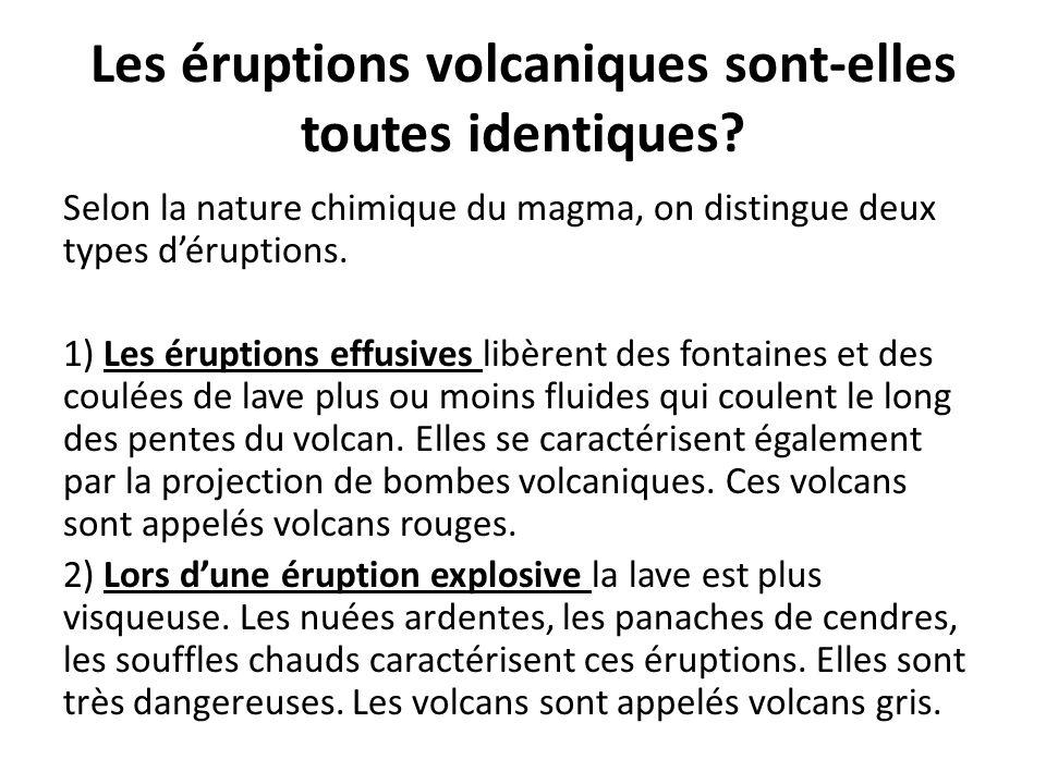 Les éruptions volcaniques sont-elles toutes identiques