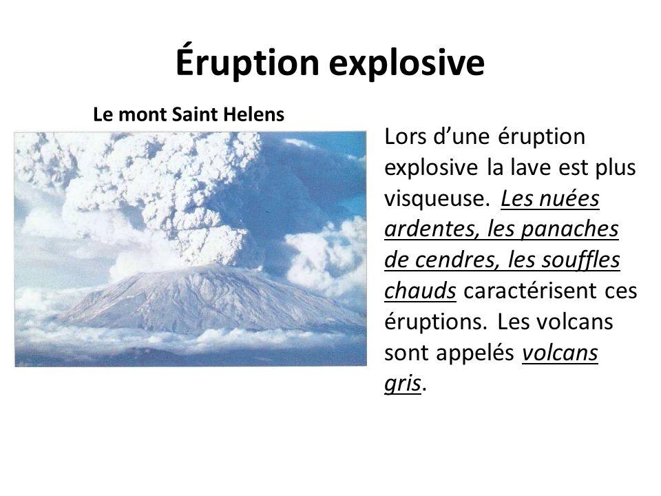 Éruption explosive Le mont Saint Helens.