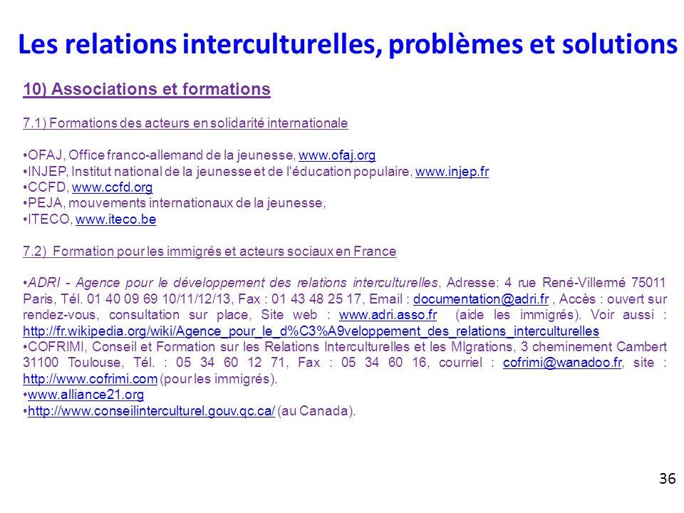 Les relations interculturelles ppt t l charger - Office des migrations internationales ...