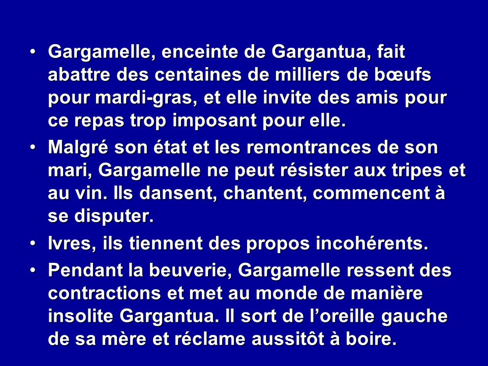 Gargantua et pantagruel ppt video online t l charger for Repas pour des amis