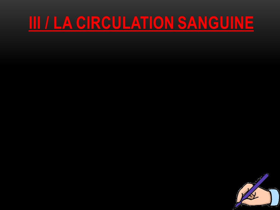 IiI / la circulation sanguine