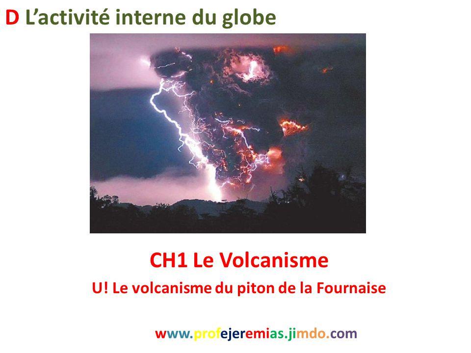 CH1 Le Volcanisme U! Le volcanisme du piton de la Fournaise