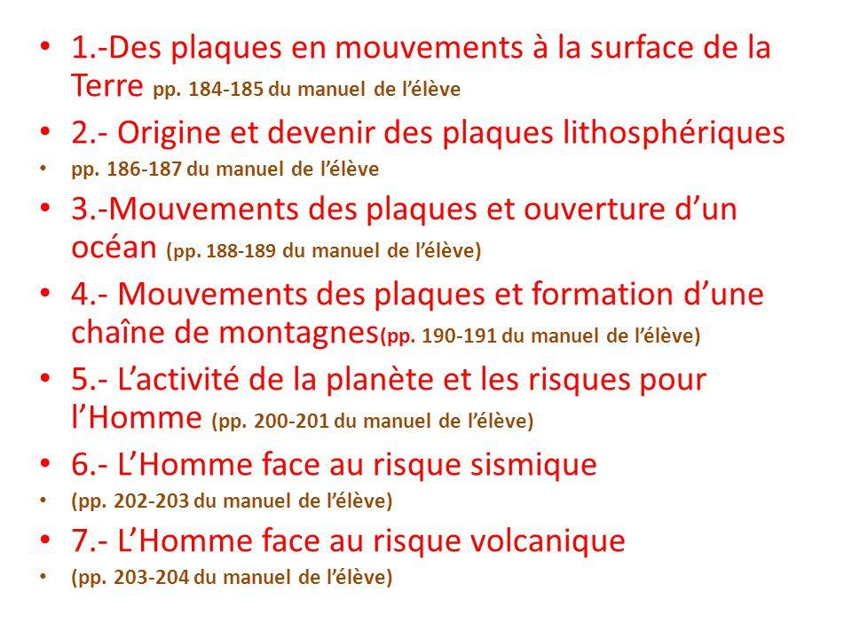 2.- Origine et devenir des plaques lithosphériques