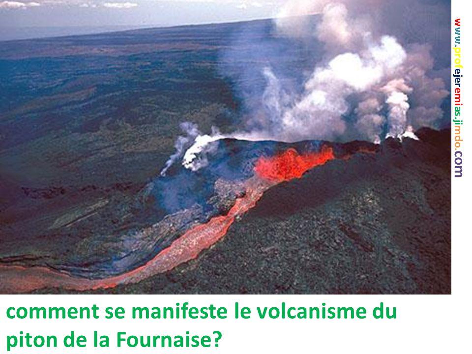 comment se manifeste le volcanisme du piton de la Fournaise