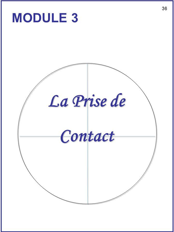 MODULE 3 La Prise de Contact