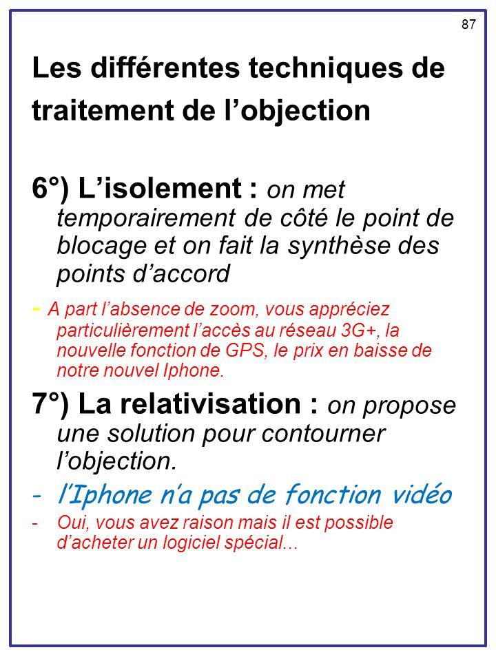 Les différentes techniques de traitement de l'objection