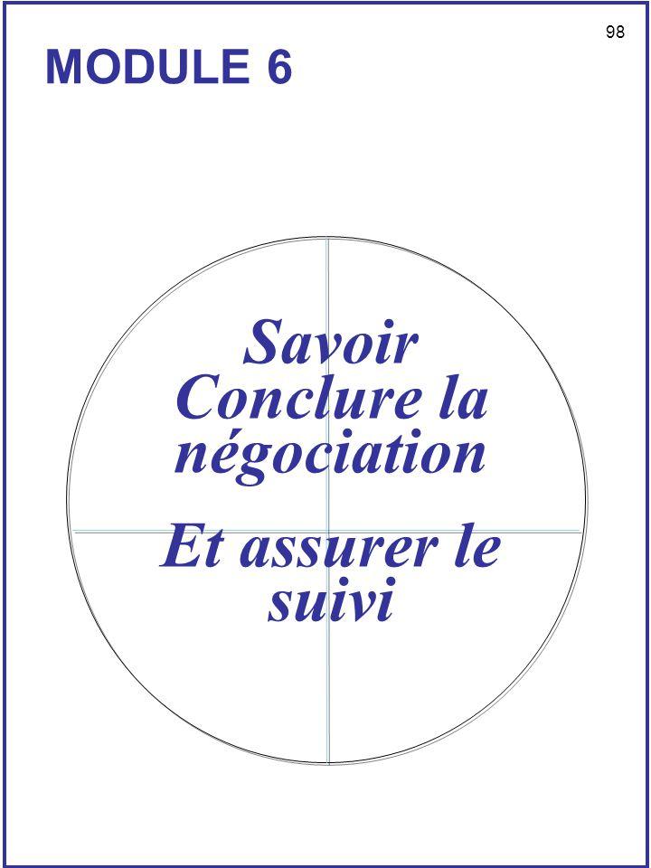 Savoir Conclure la négociation