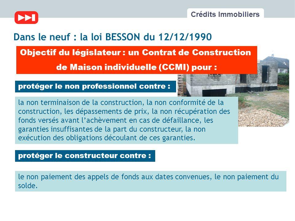 Les fondamentaux du cr dit immobilier ppt t l charger for Contrat de construction ccmi