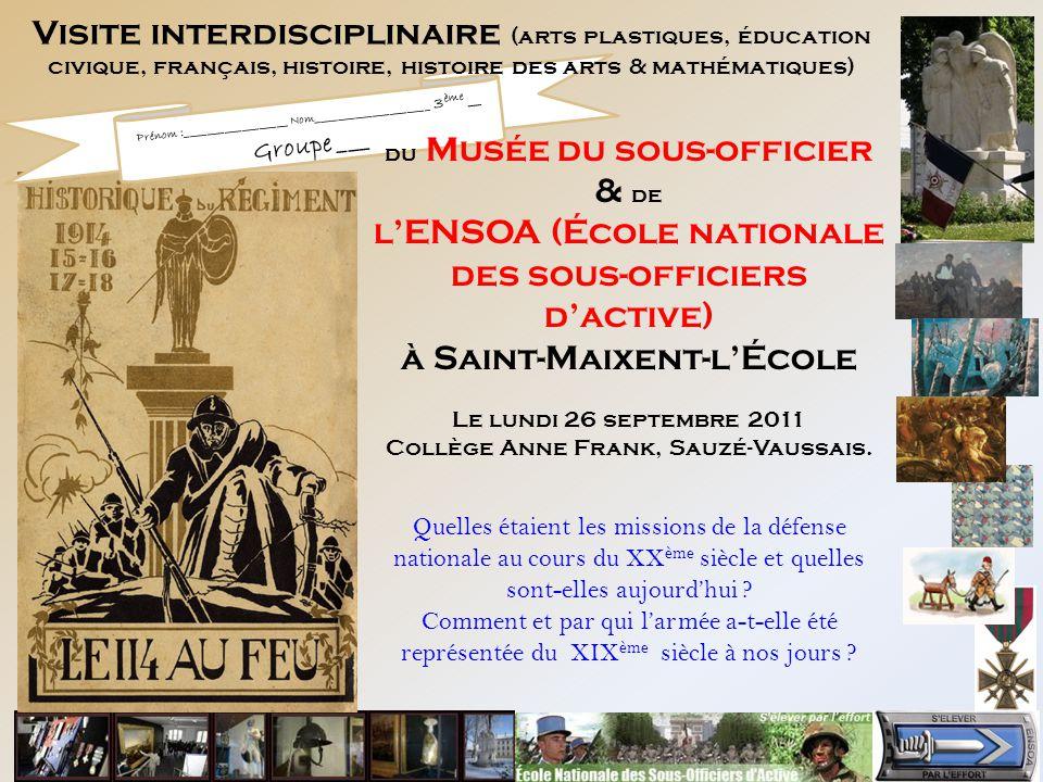Pr nom nom 3 me - Histoire des arts la chambre des officiers ...