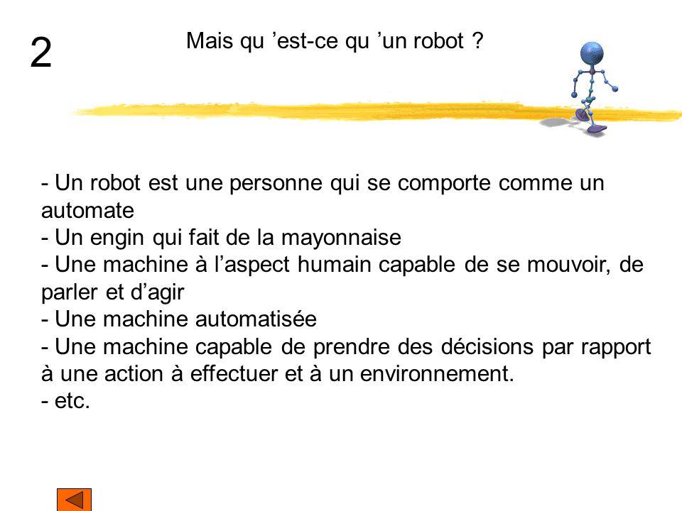Mais qu 'est-ce qu 'un robot