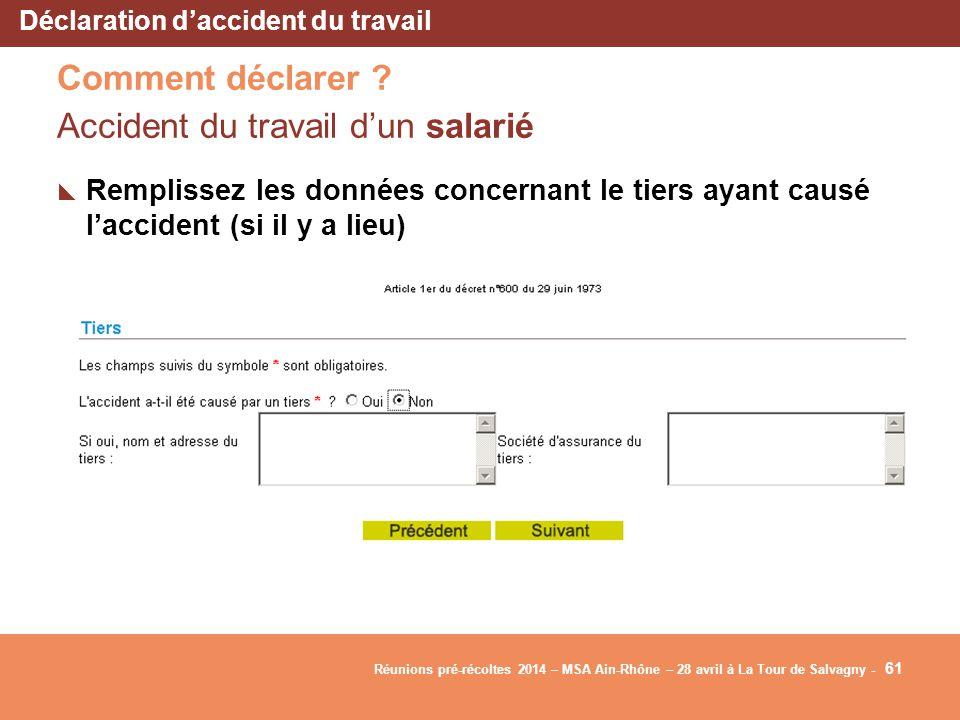 déclarer accident de travail en ligne