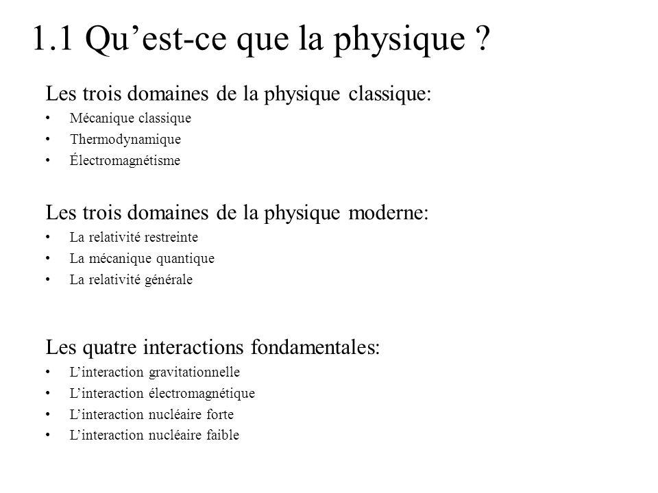 1.1 Qu'est-ce que la physique