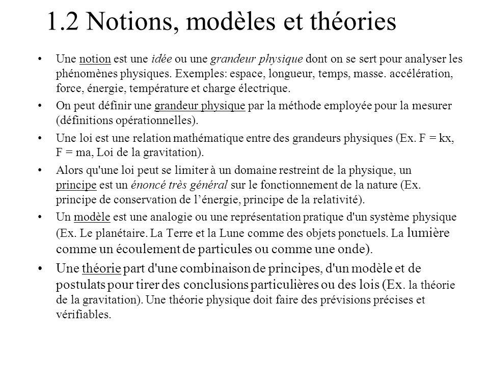 1.2 Notions, modèles et théories