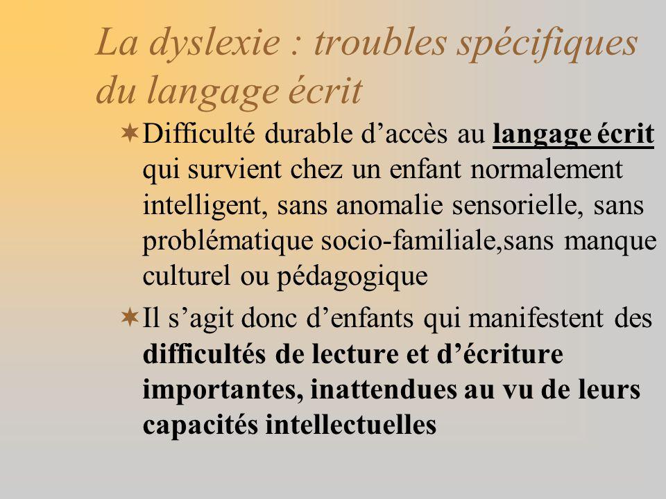 La dyslexie : troubles spécifiques du langage écrit