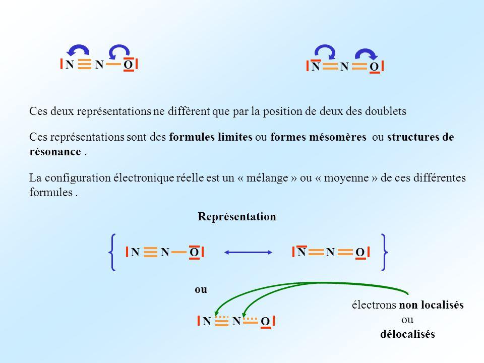 électrons non localisés ou délocalisés