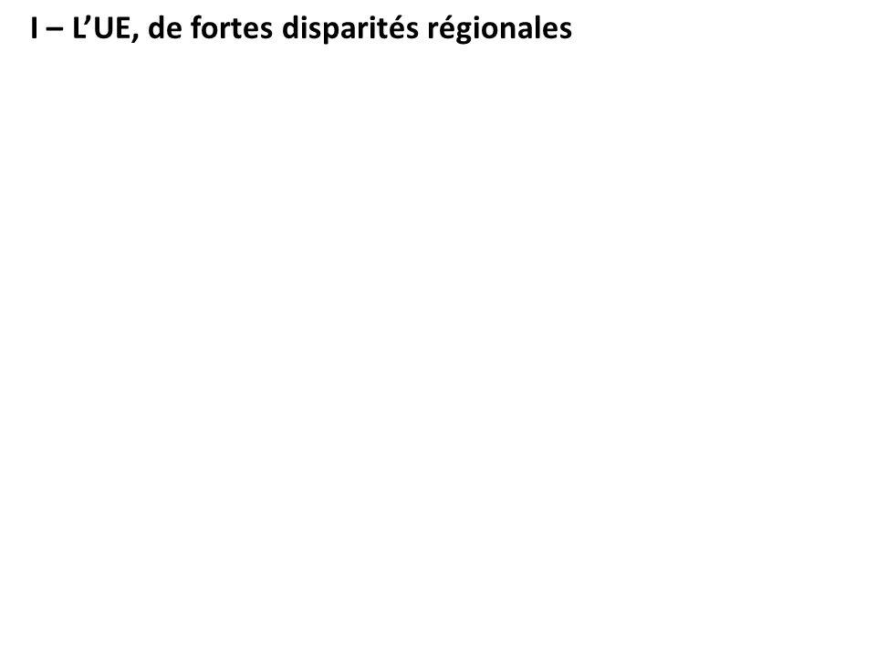 I – L'UE, de fortes disparités régionales