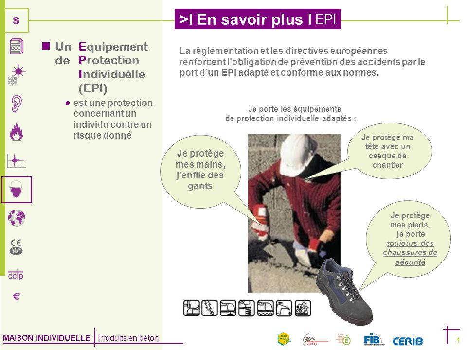 Un equipement de protection individuelle epi ppt video online t l charger - Je porte des couches au travail ...