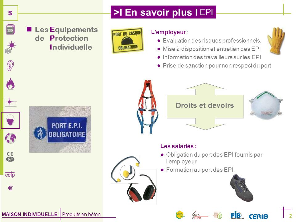 Un equipement de protection individuelle epi ppt video online t l charger - Sensibilisation au port des epi ...