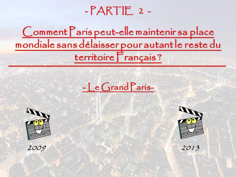 - PARTIE 2 - Comment Paris peut-elle maintenir sa place mondiale sans délaisser pour autant le reste du territoire Français