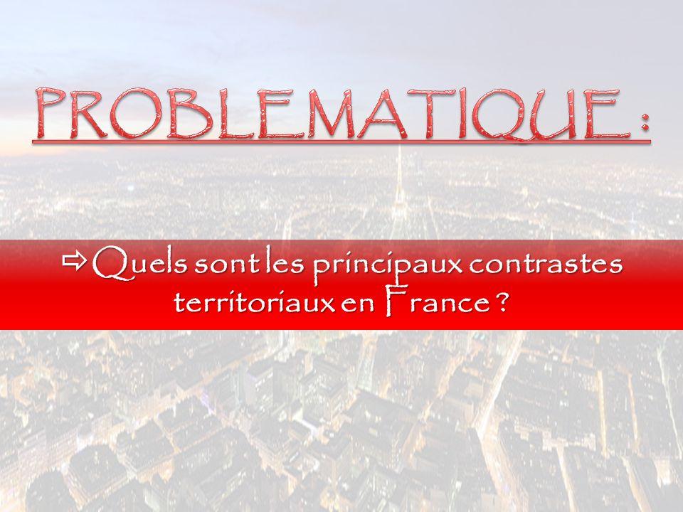 Quels sont les principaux contrastes territoriaux en France